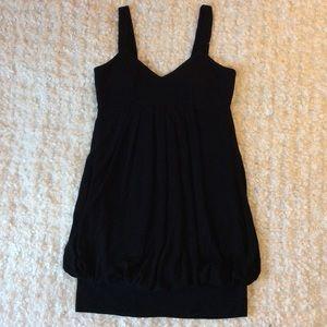 XXI black flowy mini dress